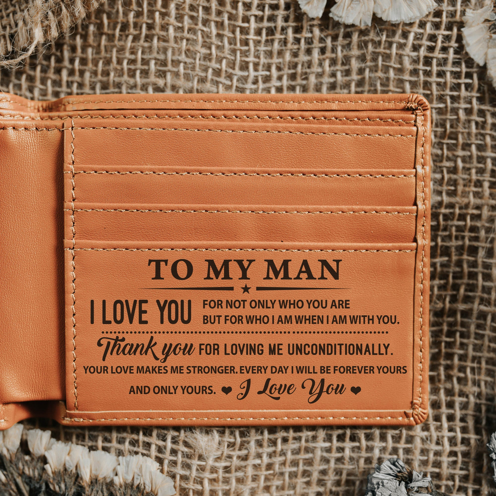 To My Man- Thank You For Loving Me Unconditionally - Bi Fold Wallet