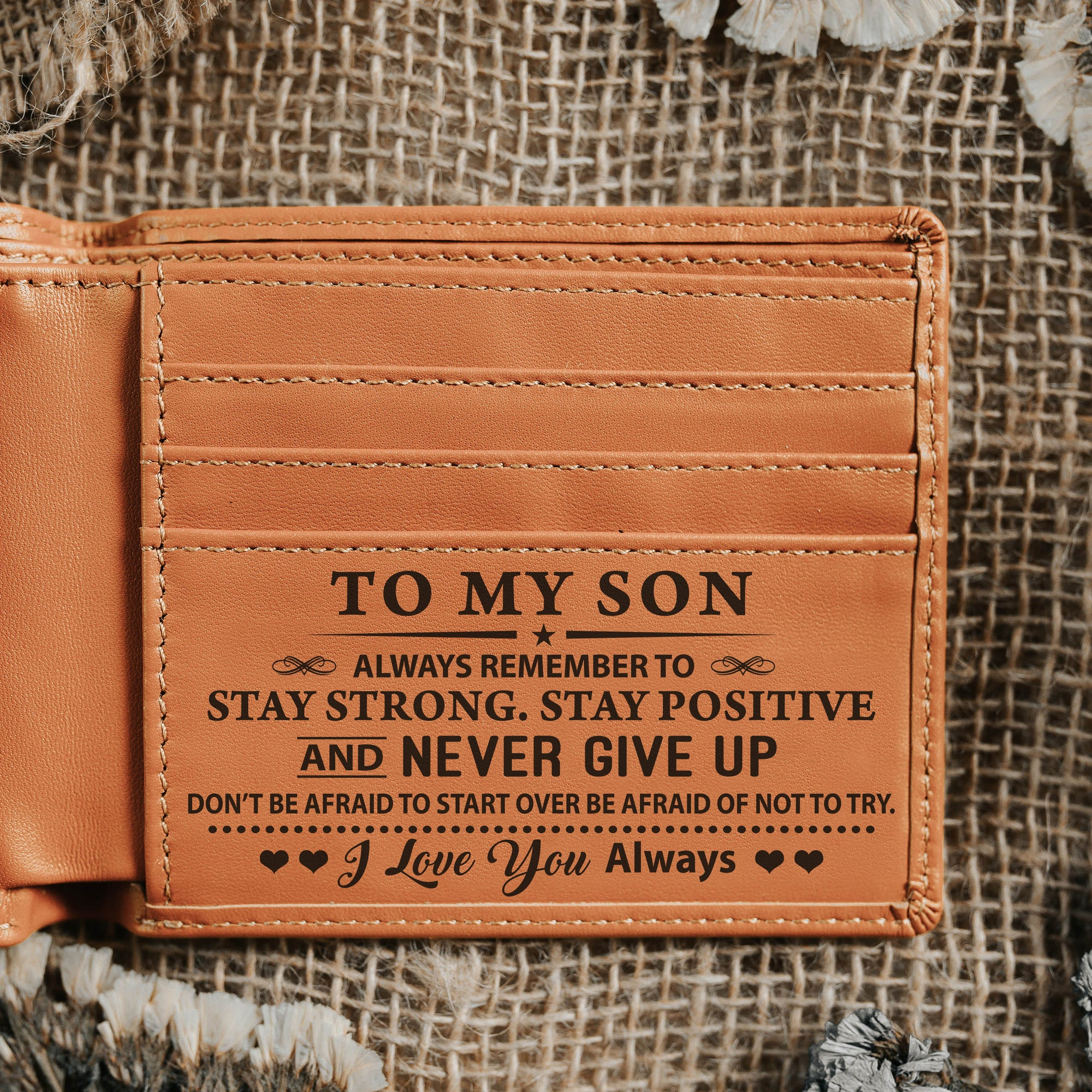 To My Son - Bi Fold Wallet - SBWL01