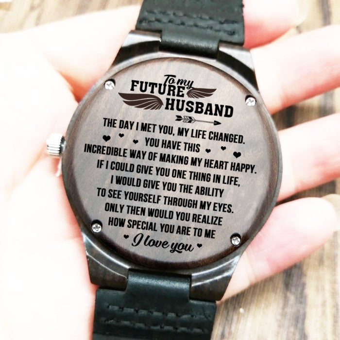 To My Future Husband - Wood Watch -  FHW08