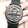 To My Husband - I Love You - Wood Watch - HW07