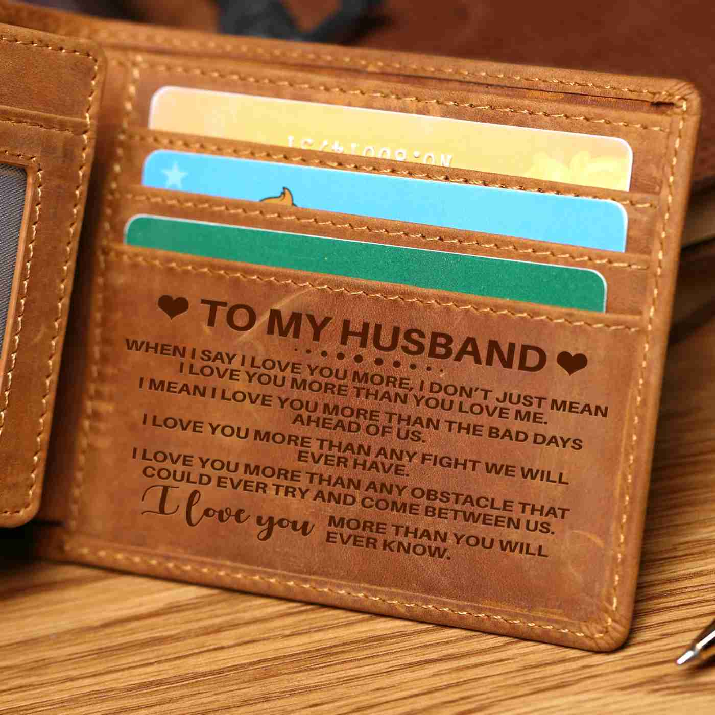 To My Husband- I love you more than you will ever know - Bi Fold Wallet
