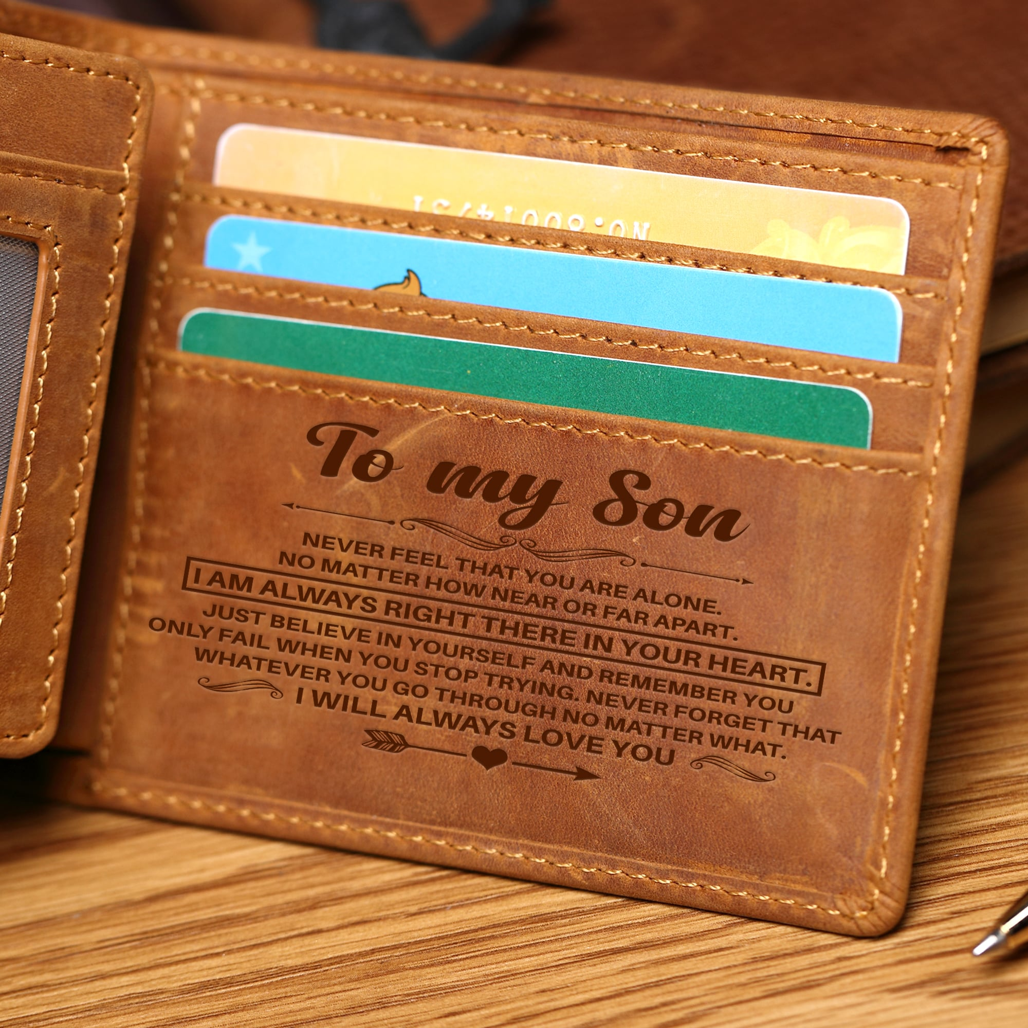 To My Son - Bi Fold Wallet - SWL01 - Family Hub Co.