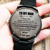 To My Man - Wood Watch - MW03 - Family Hub Co.