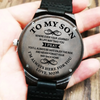 To My Son - Wood Watch - SW02 - Family Hub Co.