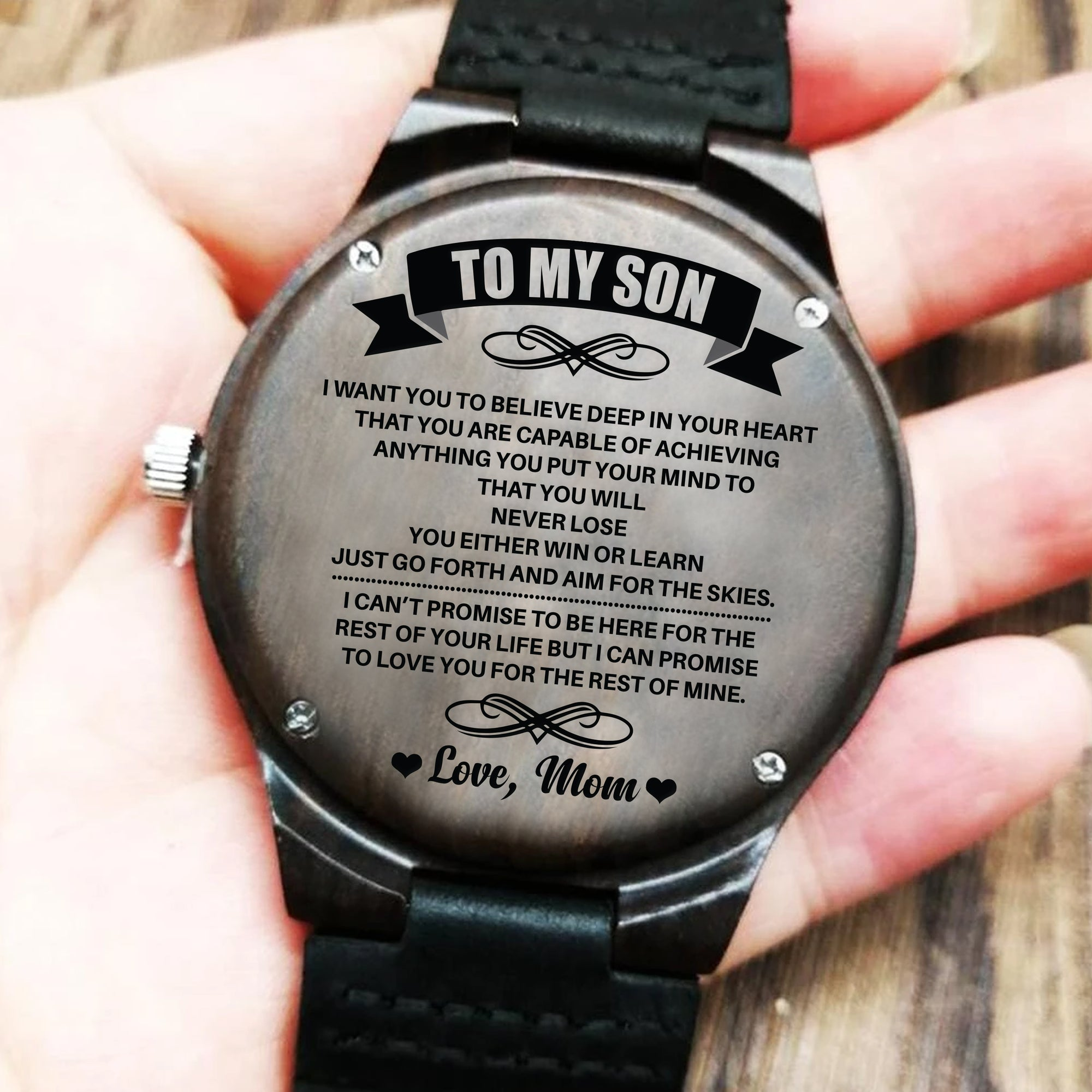 To My Son - Wood Watch - SW03 - Family Hub Co.