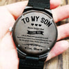 To My Son - Wood Watch - SW04 - Family Hub Co.