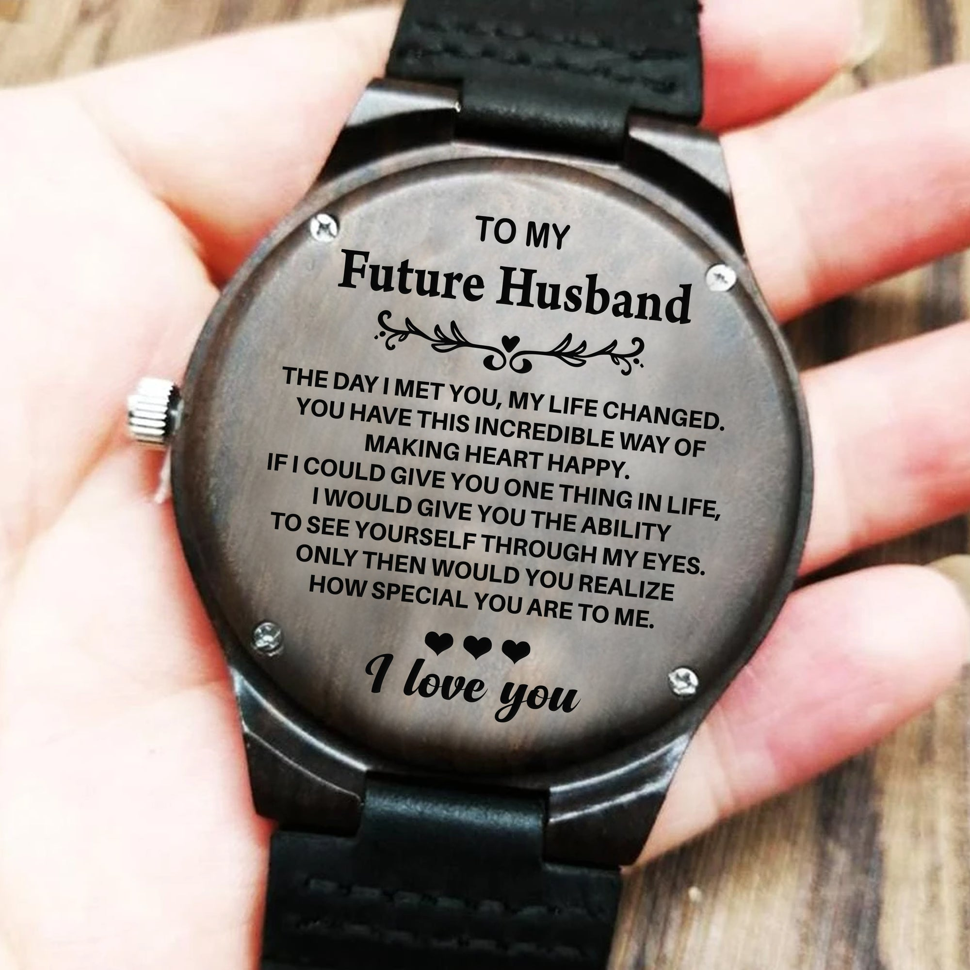 To My Future Husband - Wood Watch - FHW01 - Family Hub Co.