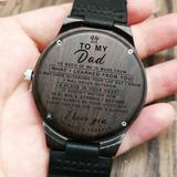 To My Dad - Wood Watch - FH03 - Family Hub Co.
