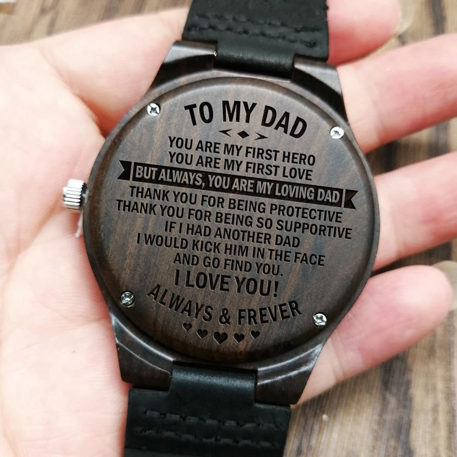 To My Dad - Wood Watch - FH04 - Family Hub Co.