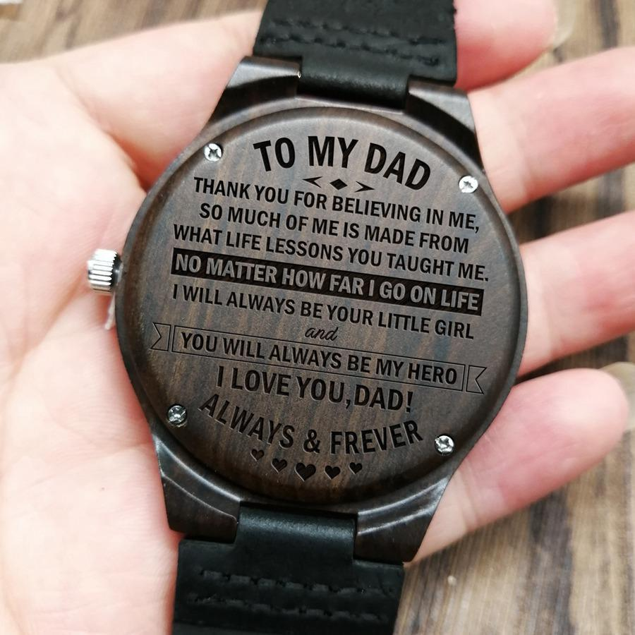 To My Dad - Wood Watch - FH05 - Family Hub Co.