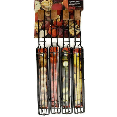 (Buy 3 Get 1 Free) Garish Pigs Stainless Steel Barbecue Kabob Baskets