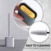Revolutionary Silicone Toilet Brush & Holder Set