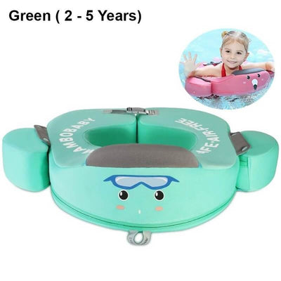 Garish Pigs | Non Inflatable 0-5 Year Baby Float - Safe Swimming Ring For Baby