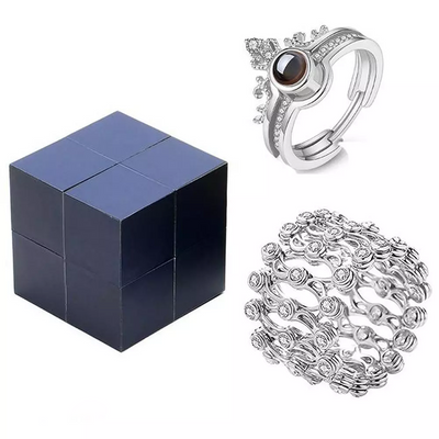 Creative Ring, Bracelet And Puzzle Jewelry Box