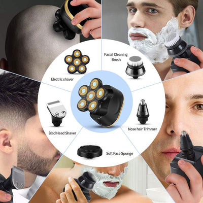 6 In 1 Rechargeable Electric Cordless Shaver