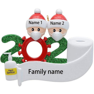 2020 Personalized Social Distancing Family Christmas Ornament