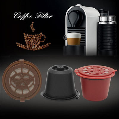 8Pcs Reusable Coffee Filter Cup With Spoon & Brush