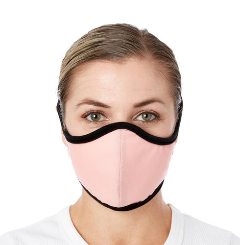 JaneCare Cloth Mask - Coral Blush