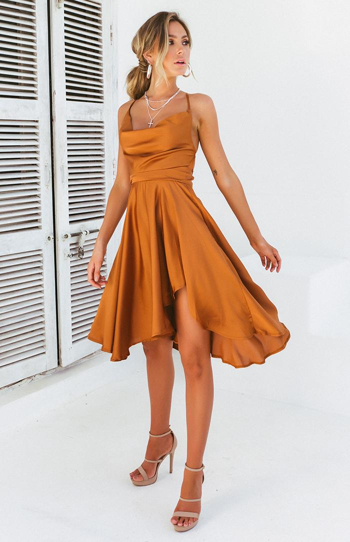 KOHLI DRESS - COPPER