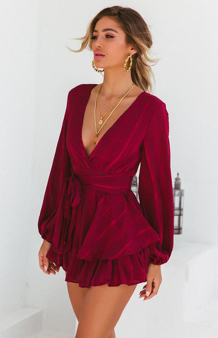 MOSES PLAYSUIT - WINE