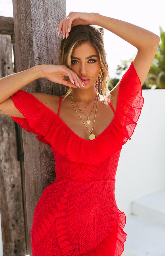 PRESTON DRESS - RED