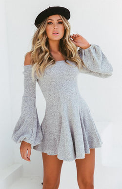 PEARL DRESS - GREY