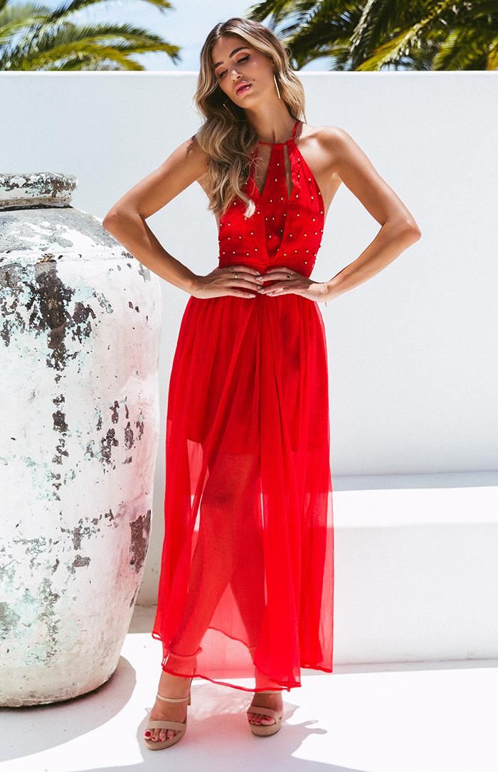 ABBY MAXI - RED