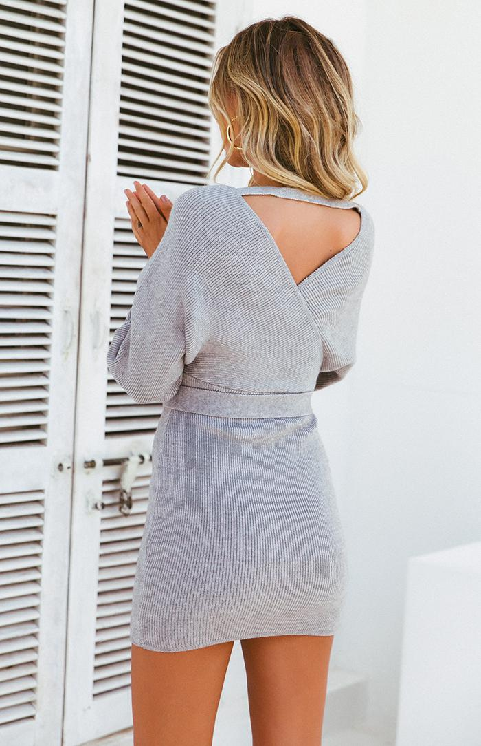 POP SCOTT DRESS - GREY