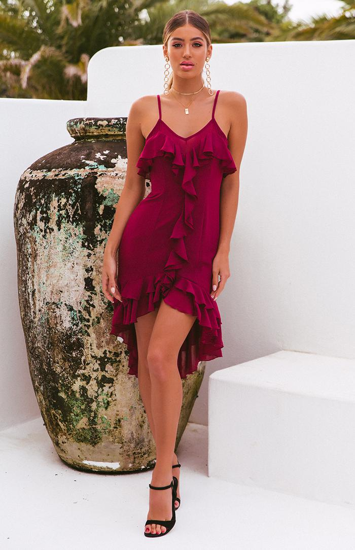 AVISHA DRESS - WINE