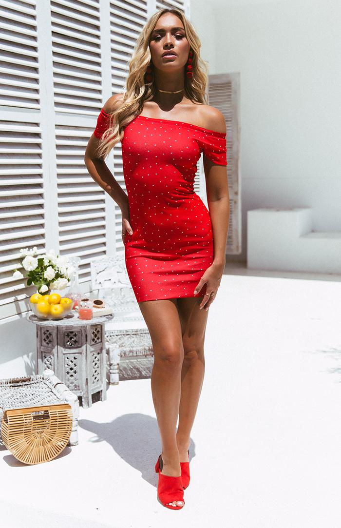 OLLIE DRESS - RED