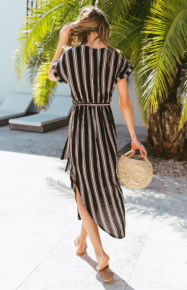 PATRICIA DRESS - BLACK STRIPE