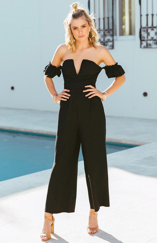 BAZAAR JUMPSUIT - BLACK