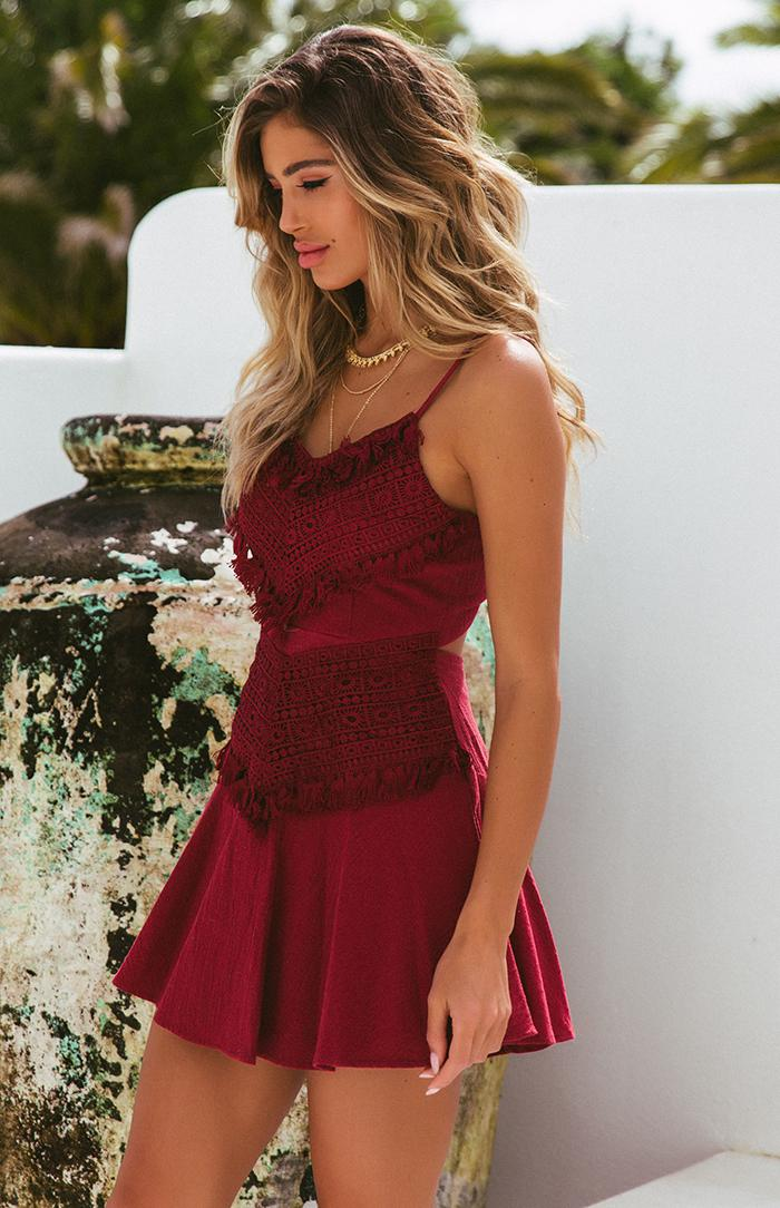 PRIYA DRESS - WINE