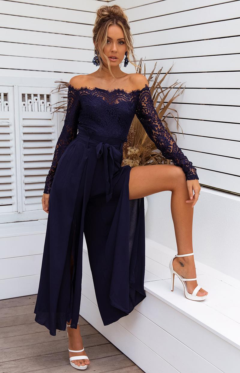 NIDA JUMPSUIT - NAVY