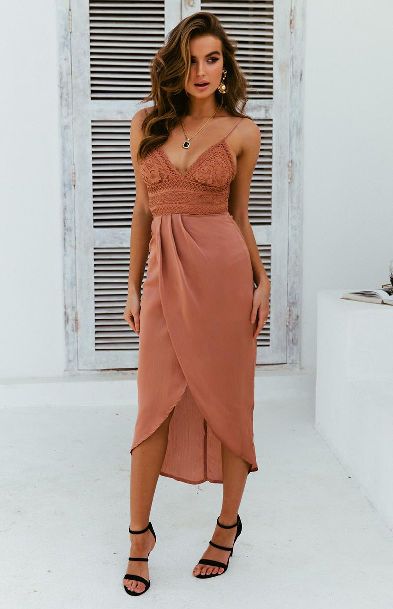 STEPHANIE DRESS - MOCHA