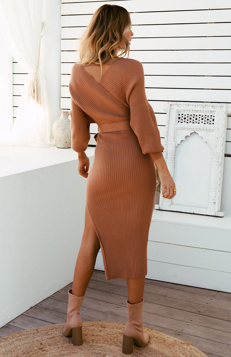 PAMPA MIDI DRESS - TAN