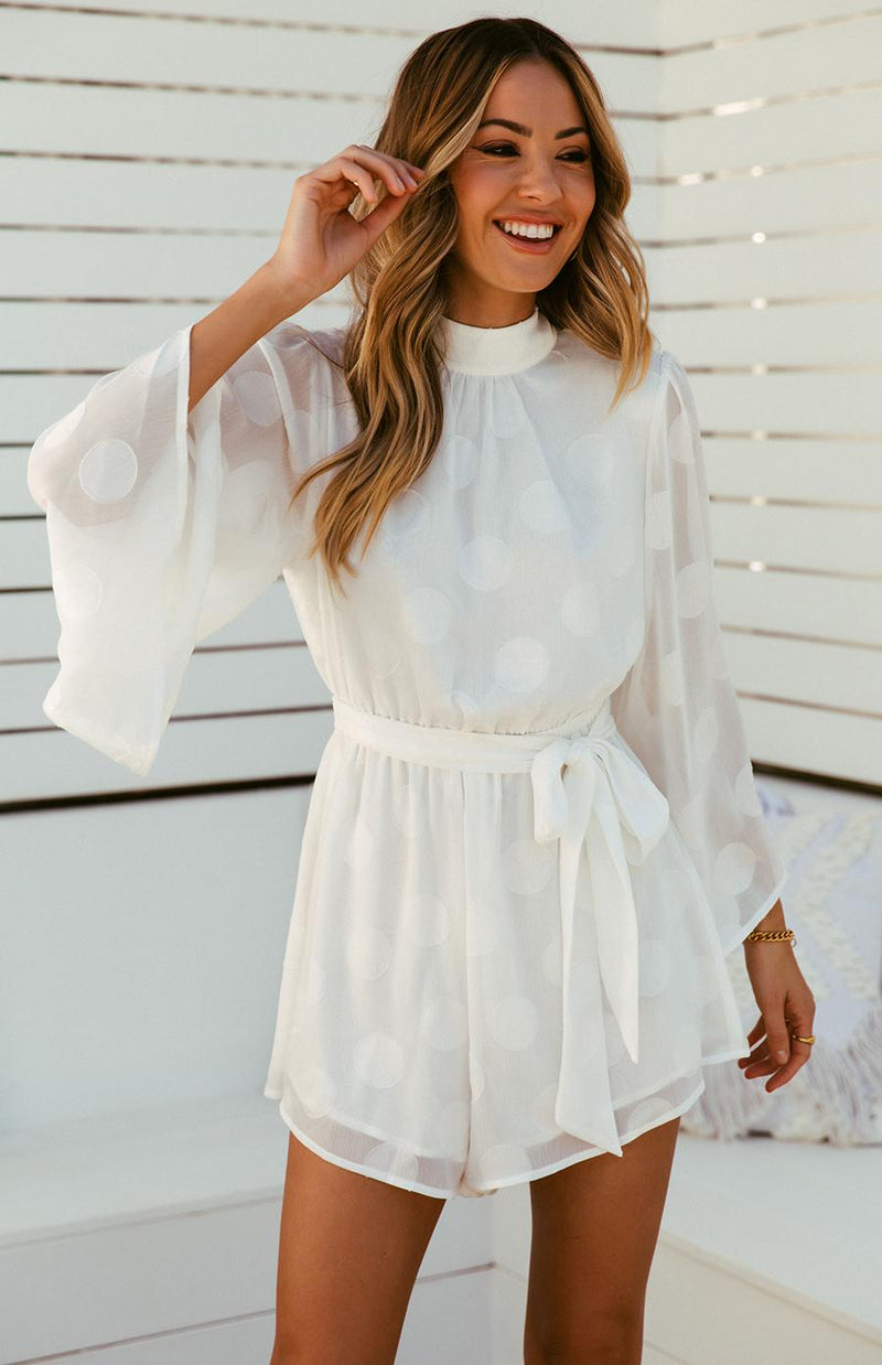 ALMA PLAYSUIT - WHITE