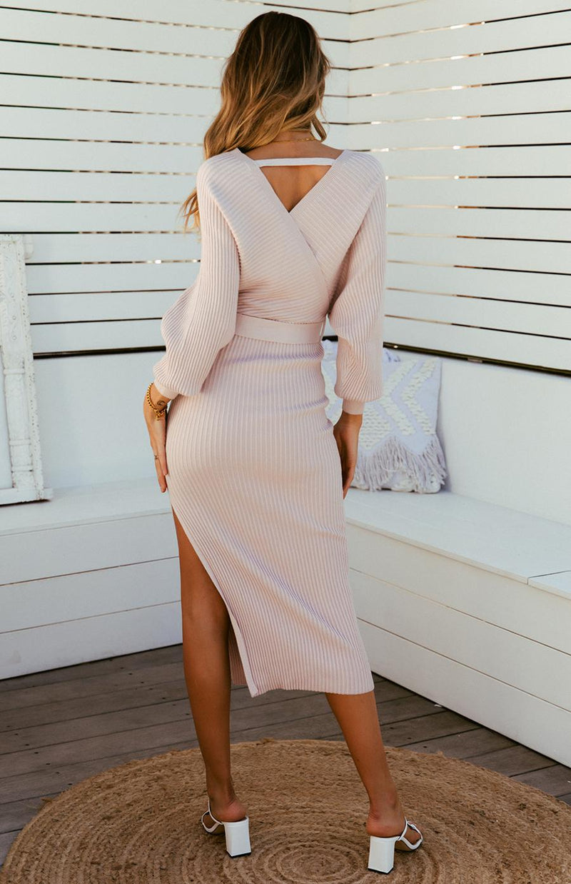PAMPA MIDI DRESS - NUDE