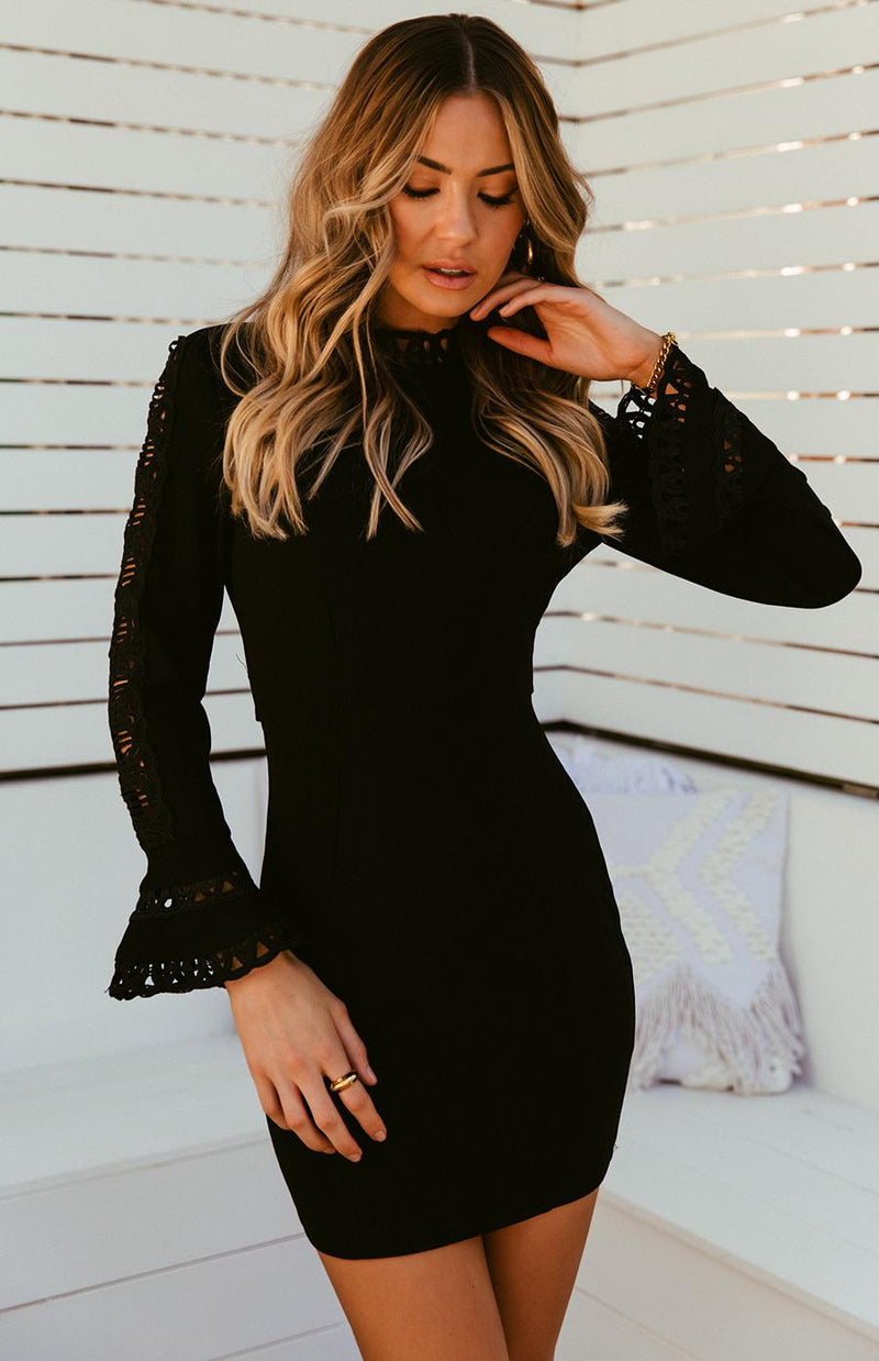 AFTER HOURS DRESS - BLACK