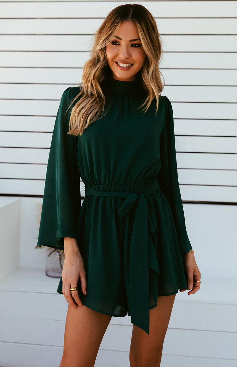 ASHA PLAYSUIT - EMERALD