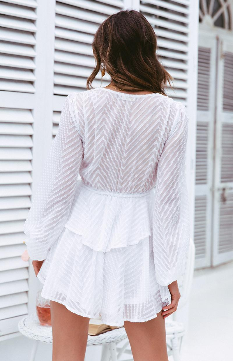 MODEST PLAYSUIT - WHITE