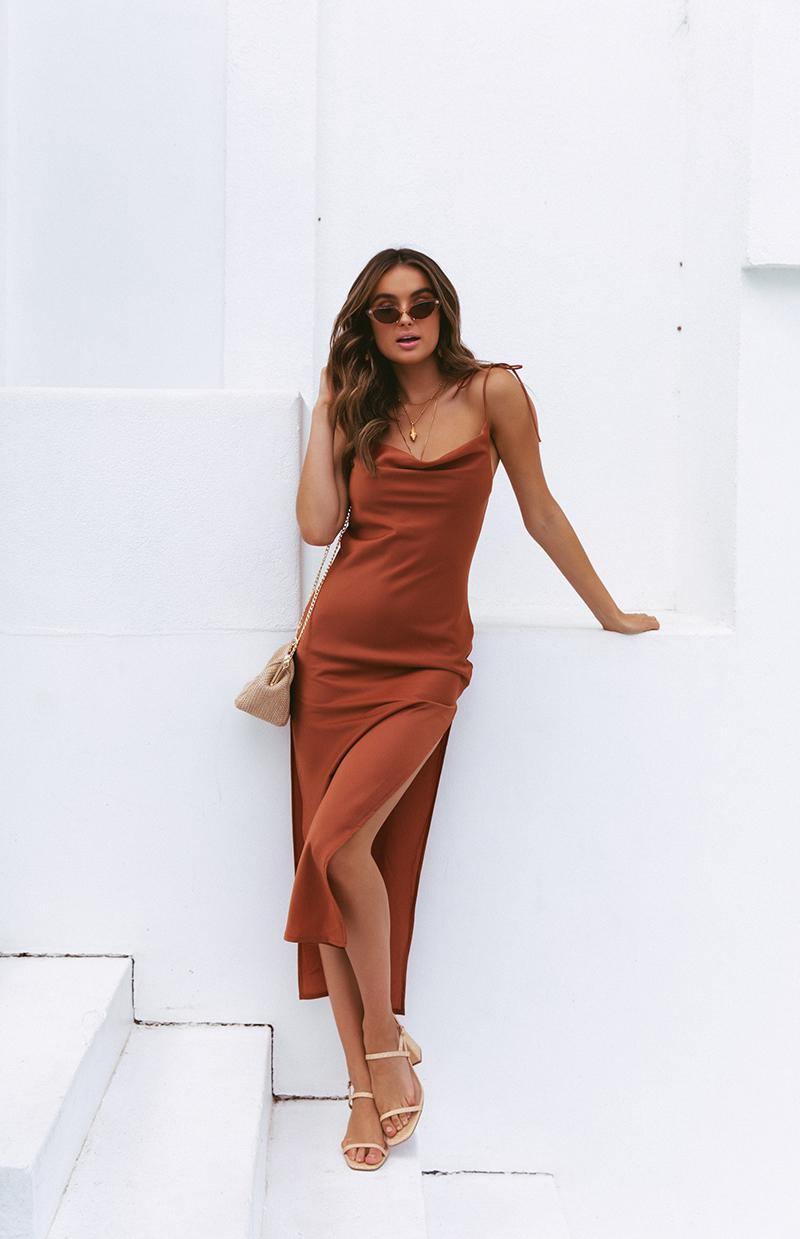 SOUK DRESS - RUST