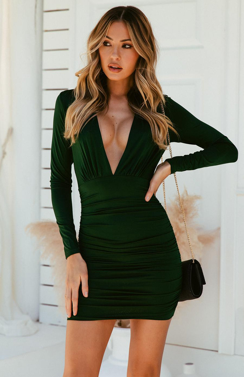 SARAI DRESS - EMERALD