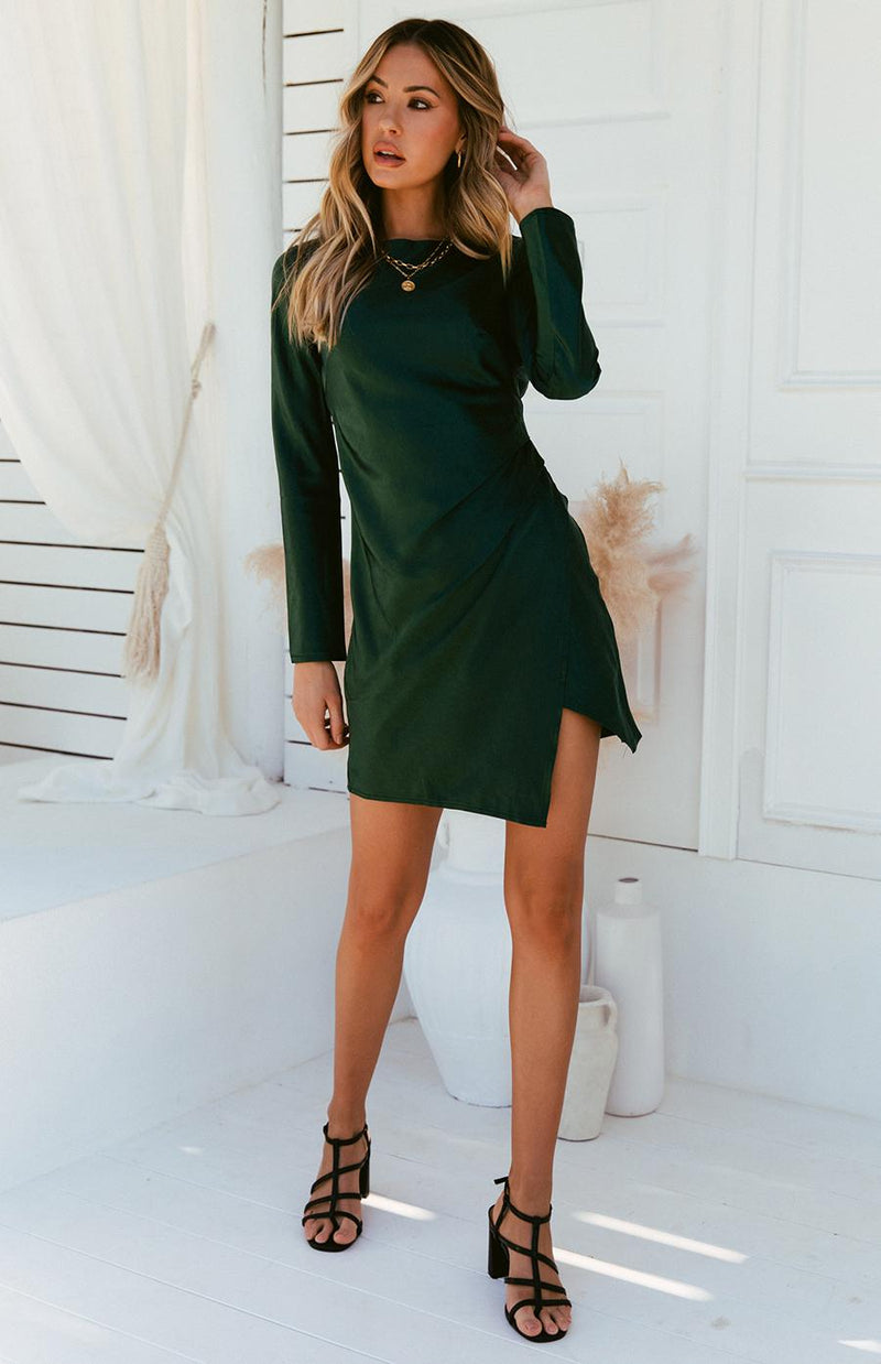PHOEBE DRESS - EMERALD