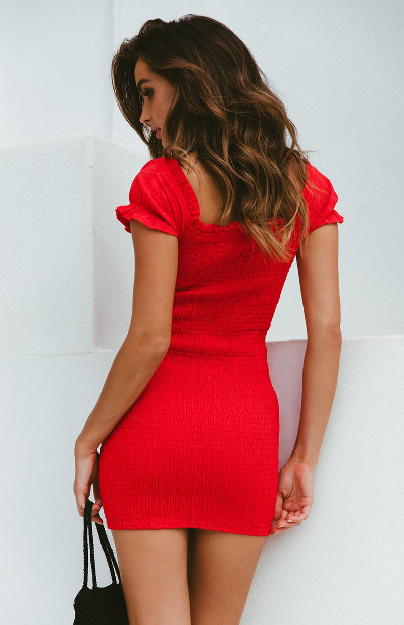 MANDY DRESS - RED