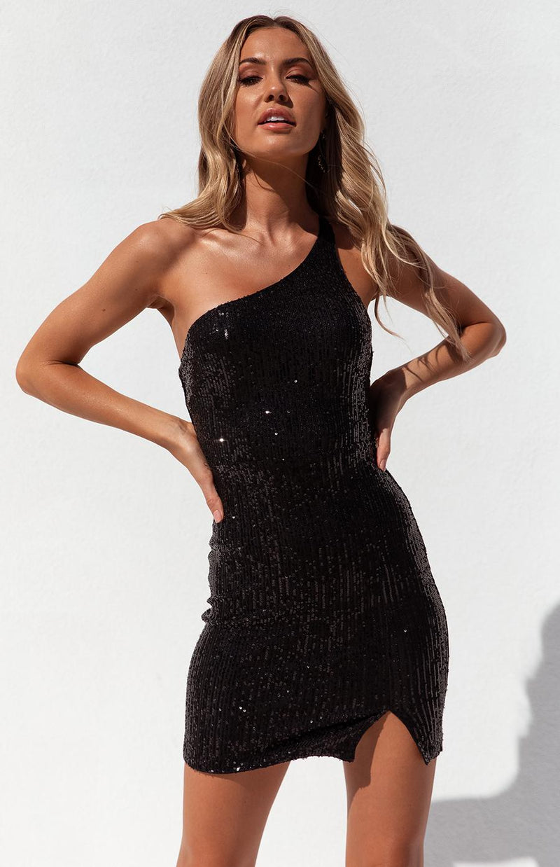 INKA DRESS - BLACK SEQUIN