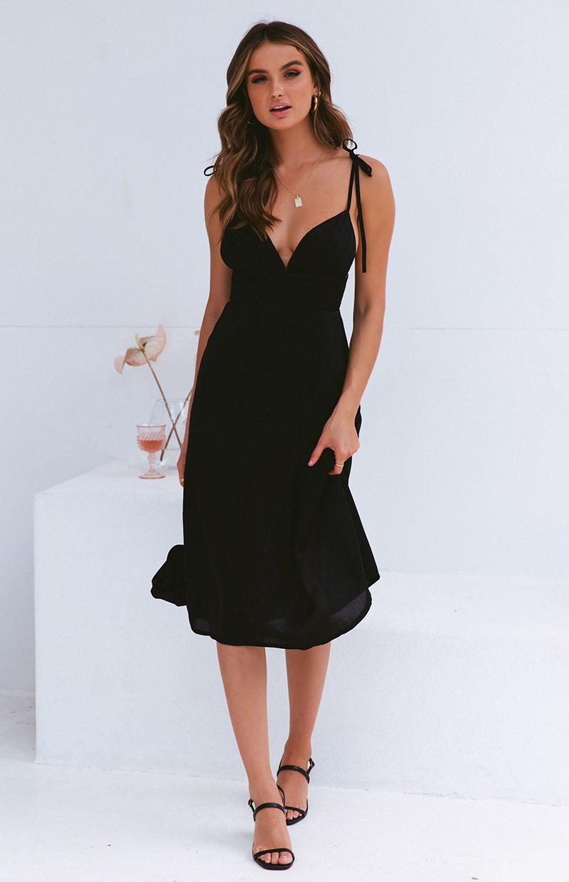 BRIM DRESS - BLACK