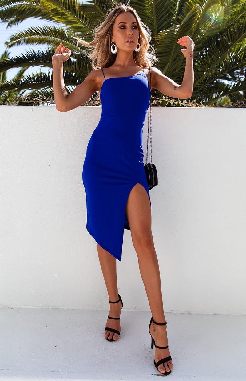 BLADE DRESS - COBALT