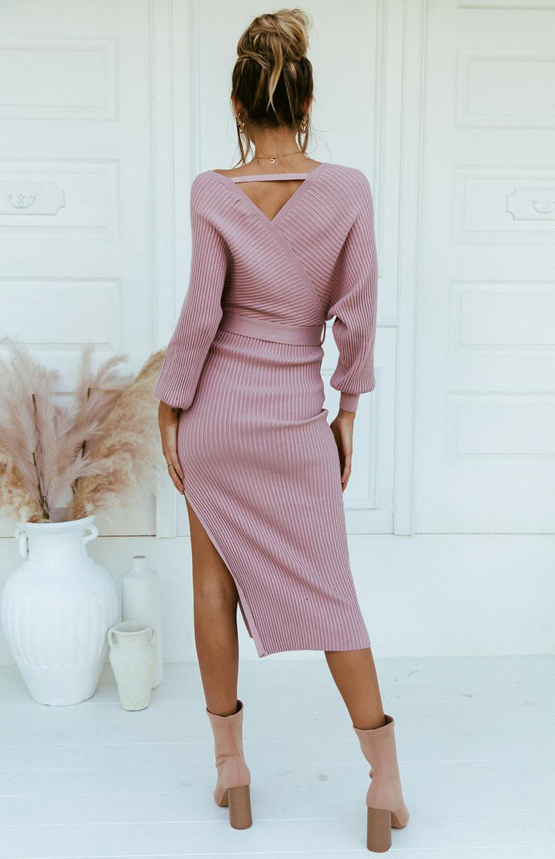 PAMPA MIDI DRESS - BLUSH