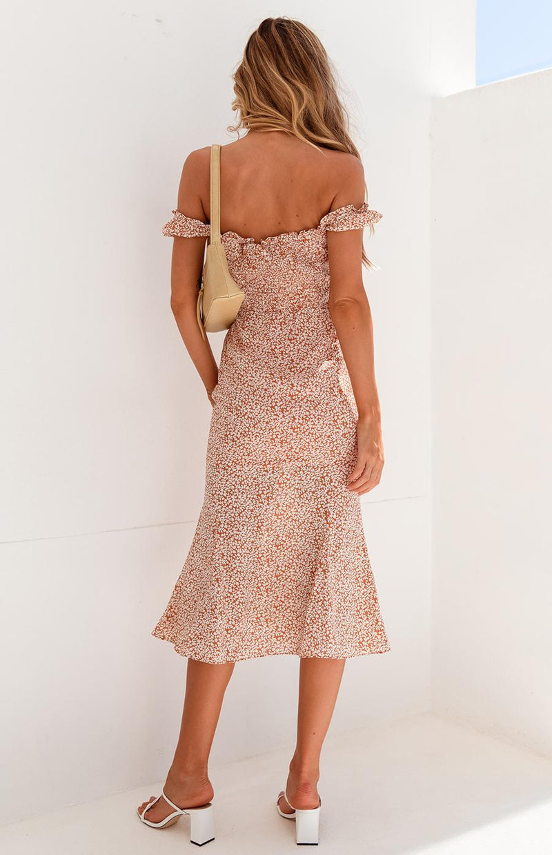 GILMOUR DRESS - RUST PRINT
